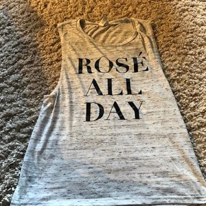 Tops - Heather Grey Rose All Day Tank (Small)